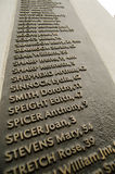Names on Bethnal Green Memorial Stock Photos