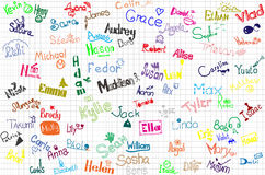 Names of the children Royalty Free Stock Photos