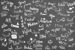Names of the children Royalty Free Stock Image