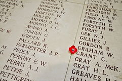 Free Names Inside The Menin Gate Stock Photo - 52640310