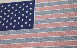 Names of the Lost--Flag at 9/11 Memorial Royalty Free Stock Images