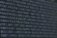 Names in Stone--Vietnam Memorial, Washington, D.C. Stock Photography