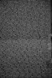 Names of Vietnam war casualties on Royalty Free Stock Image