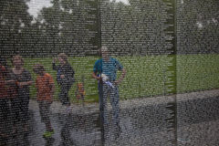 Names of Vietnam war casualties on Stock Image