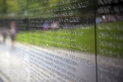 Names of Vietnam war casualties on Royalty Free Stock Photos