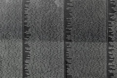 Names of Vietnam war casualties at Stock Photos
