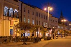 Namestie SNP  at Banska Bystrica in the night. Historical buildings at Namestie SNP  at Banska Bystrica in the night, Slovakia Stock Image