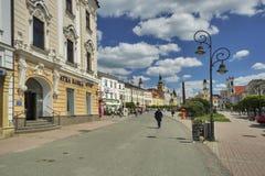 Namestie SNP. Square at Banska Bystrica Stock Photography