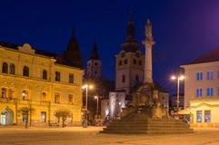 Namestie SNP square at night at Banska Bystrica. Slovakia Royalty Free Stock Photography