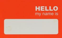 Nametag Stockfotos