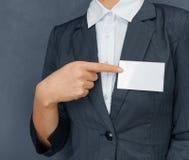 Nametag auf dem Kasten, copyspace Lizenzfreie Stockfotos