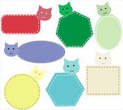 Nametag cat style Stock Images