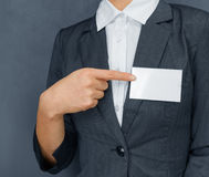 Nametag on the chest, copyspace Royalty Free Stock Photos