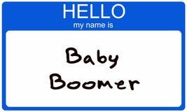 Nametag del nacido en el baby boom Imagen de archivo libre de regalías