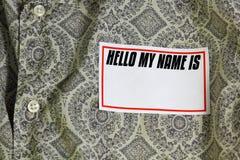 Nametag Stock Photography