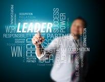 Nametag för ledare för affärsman röra royaltyfri bild