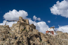 Namgail Tsemo monastery, Landmark of Leh city, Ladakh, India Stock Photography