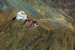 Namgyal of rode gompa zijn hoofd Boeddhistisch centrum in Leh La Royalty-vrije Stock Foto's