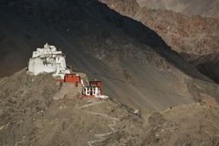 Namgyal Tsemo Gompa in the evening before the sunset. Ladakh, In Royalty Free Stock Photos