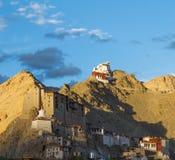 Namgyal Tsemo monaster w Leh przy zmierzchem Obraz Stock
