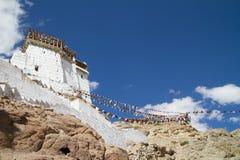 Namgyal Tsemo monasteru panorama przy słonecznym dniem (India) Zdjęcia Stock