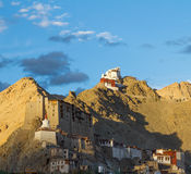 Namgyal Tsemo monastery in the Leh at the sunset Stock Image