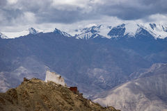 Namgyal Tsemo monastery up on hill of Leh city Royalty Free Stock Photo