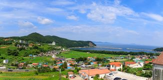 Namhae German Village scene, tourist attraction in Namhae county. Namhae, South Korea - July 29, 2018 : Namhae German Village scene, tourist attraction in Namhae royalty free stock images
