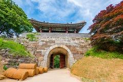 Namhansanseong堡垒在汉城,韩国 免版税图库摄影