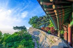 Namhansanseong fästning i Sydkorea arkivbild
