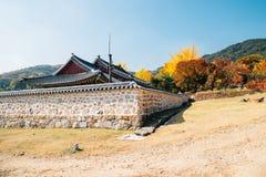 Namhansanseong Fortress, Korean old traditional house with autumn maple at Gwangju, Korea. Namhansanseong Fortress, Korean old traditional house with autumn stock photography