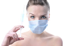 namiętna piękna pielęgniarka Obrazy Royalty Free
