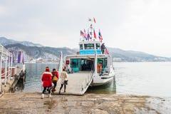 NAMI ISLAND - SOUTH KOREA - JANUARY 19: Tourists arrived in Nami Island. Royalty Free Stock Photography