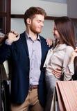 Namiętna para jest w sklepie Zdjęcia Royalty Free