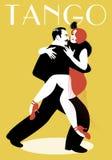Namiętnej pary dancingowy tango Obraz Royalty Free