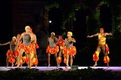Namiętny Karaibski taniec przy folkloru festiwalem fotografia stock