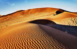namib沙漠与橙色沙丘的 库存图片