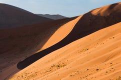 Namib desert. Dunes at sunrise in the Namib desert in Namibia Stock Photos