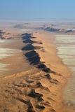 Namib Desert. Aerial view of the Namib Desert near Swakopmund Royalty Free Stock Photography