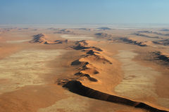 Namib Desert. Aerial view of the Namib Desert near Swakopmund Royalty Free Stock Image