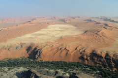 Namib Desert. Aerial view of the Namib Desert and the Kuiseb River stock photo