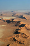 Namib Desert. Aerial view of the Namib Desert near Swakopmund Stock Photography