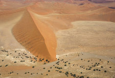 Namib Desert. Aerial photo of the Namib-Naukluft National Park near Sossusvlei, Namibia, Southern Africa stock photography