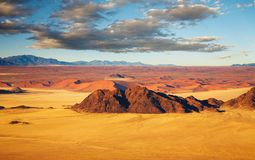 Namib Desert, bird's-eye view Royalty Free Stock Photos