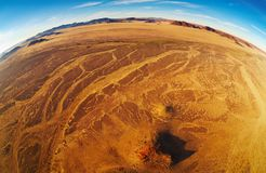 Namib Desert, fisheye shot royalty free stock image