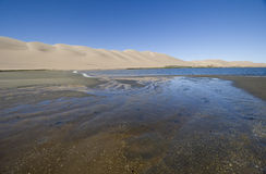 Namib Desert Meets the Ocean Stock Images