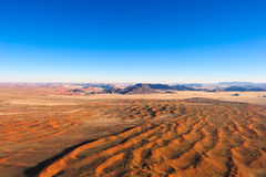 Namib Desert (Namibia). View over the Namib Desert with the Naukluft Mountains in the Background (Namibia royalty free stock image