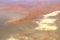 Namib Desert, Namibia. Sossusvlei: Flying over the Namib Desert Royalty Free Stock Photo