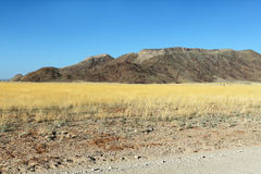 Namib desert road to Sesriem, Namibia Stock Image