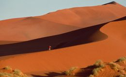 Namib Desert Sand dune walking excursion stock photography